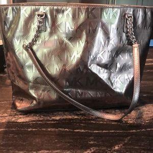 Michael Kors bronze tote like new